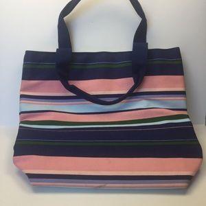 VICTORIA'S SECRET Striped Canvas Tote Bag
